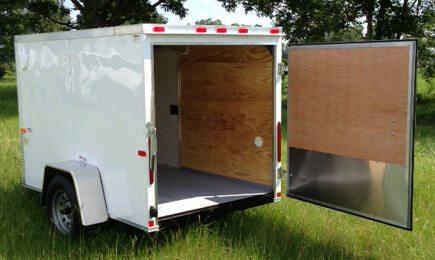 5 X 10 Single Axle Elite V-Nose Enclosed Cargo Trailer