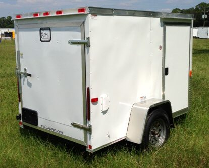 5 X 10 Single Axle Elite V Nose Enclosed Cargo Trailer