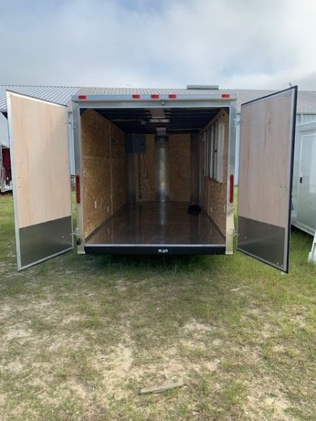 Rear Barn Style Double Doors (Not available on 5' Wide Trailers)
