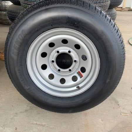 "Silver 15"" Modular Steel Wheel w/ 205/75 Bias Ply Tire Spare"