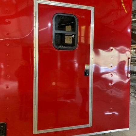 "32"" Flush Key Lock Door with Window (Glass and Screened Window)"