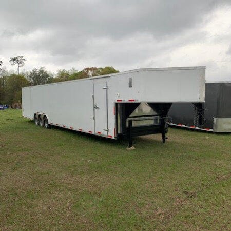 8.5 X 53 Gooseneck Auto Carrier - Car Hauler Trailer
