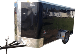 Black Single Axle Trailer