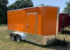 Orange Tandem Axle Trailer