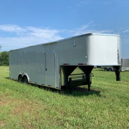 8.5 X 24 Gooseneck Auto Carrier - Car Hauler Trailer