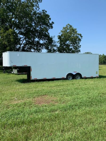 8.5 X 28 Gooseneck Auto Carrier - Car Hauler Trailer